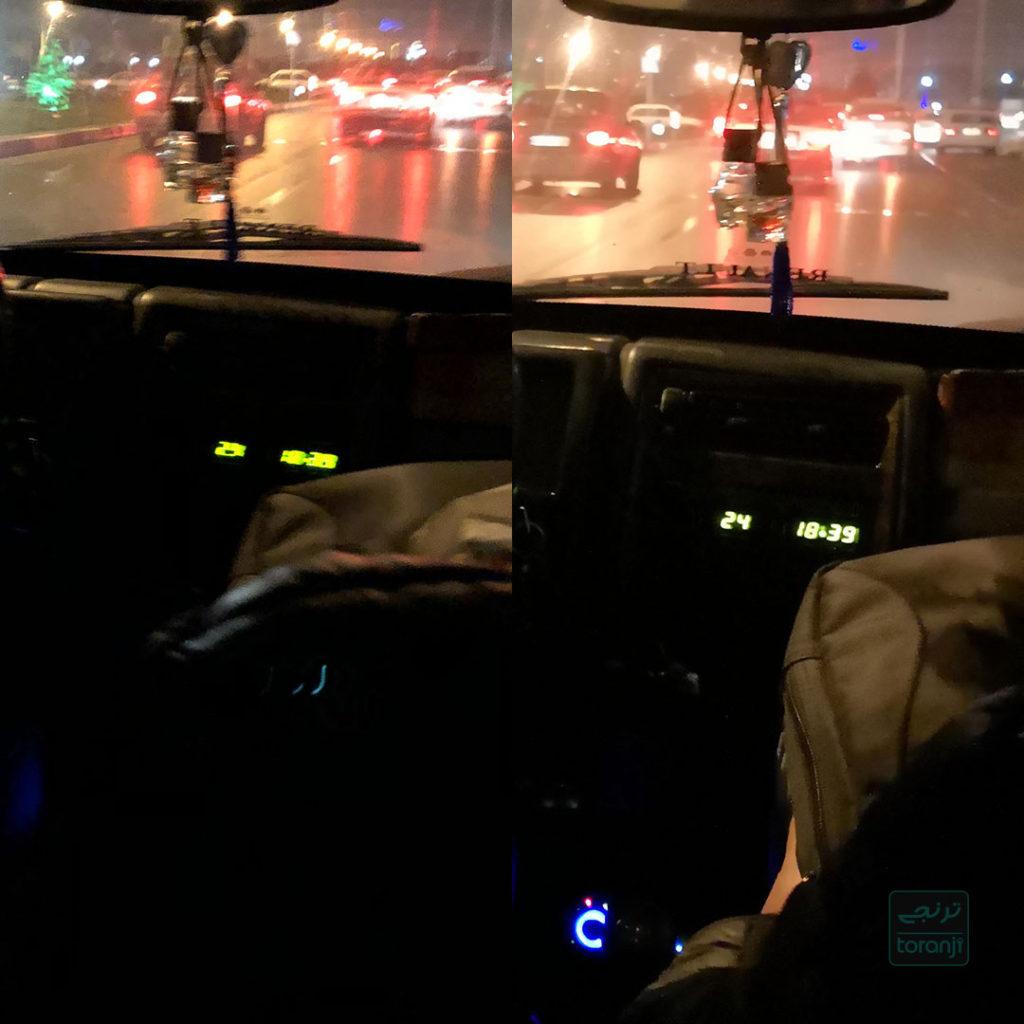 مقایسه دوربین در شب