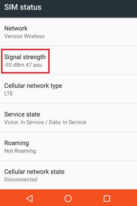 قدرت آنتندهی موبایل