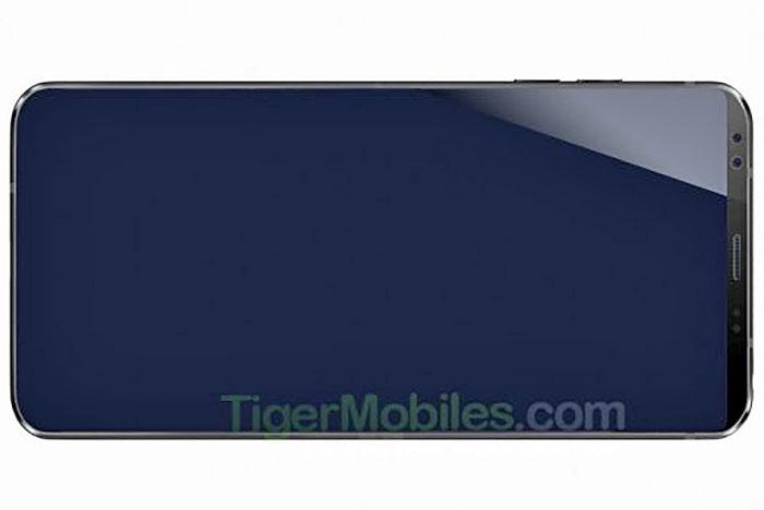 رندر الجی جی 7 (LG G7) لو رفت، دوربین سلفی دوگانه و نمایشگر کم حاشیه Full Vision