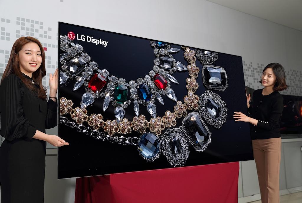 الجی دیسپلی از اولین پنل 88 اینچی 8K OLED دنیا رونمایی کرد