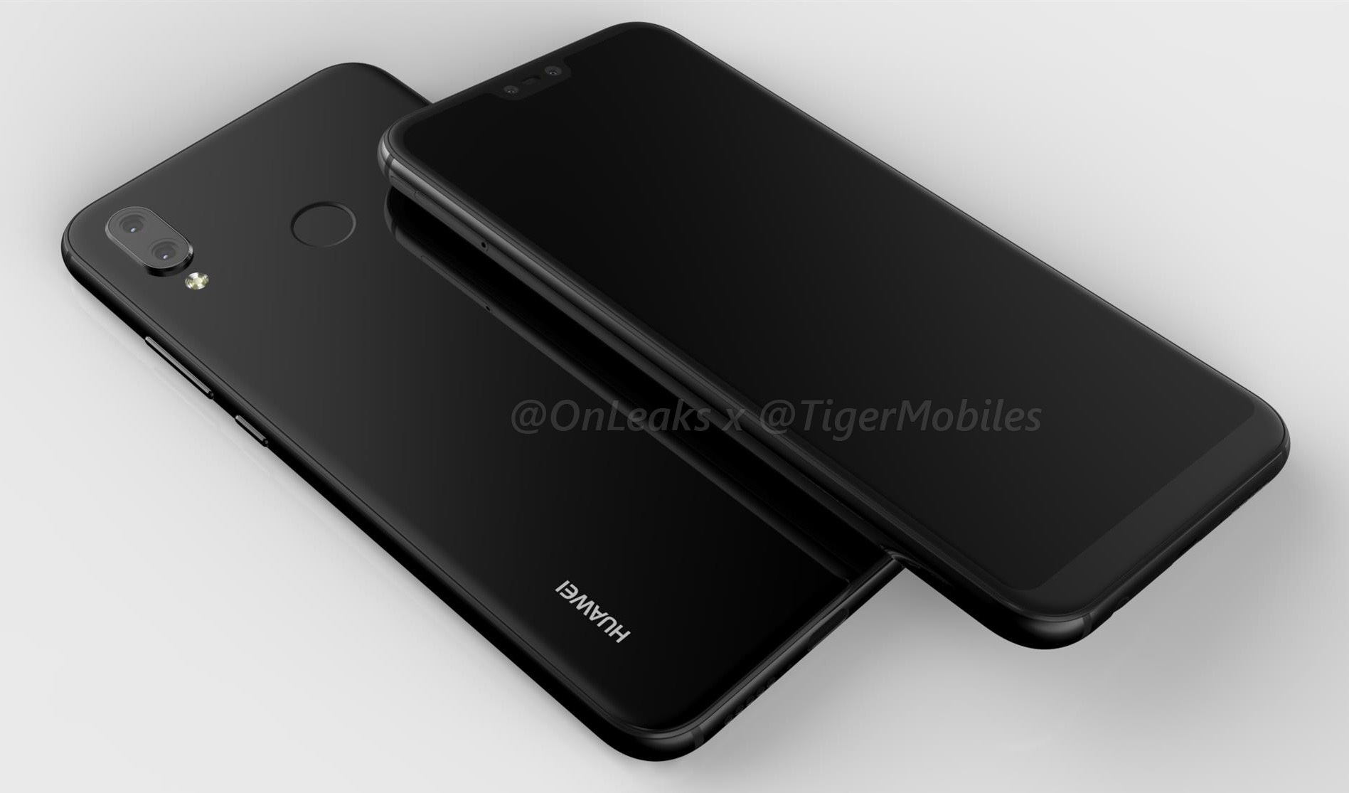 رندرهایی تازه از هواوی پی ۲۰ لایت (Huawei P20 Lite) منتشر شد؛ آیفون X با سیستمعامل اندروید