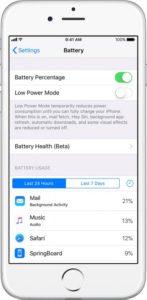 قابلیت سلامت باتری یا Battery Health ios 11.3