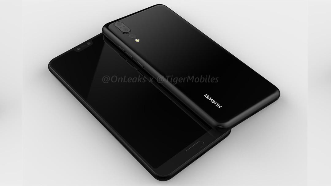 طرح مفهومی جدید منتشر شده از هوآوی پی 20 (Huawei P20) از دوربین سه گانه و سنسور اثر انگشت در جلو خبر میدهد
