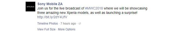 مراسم سونی MWC 2018