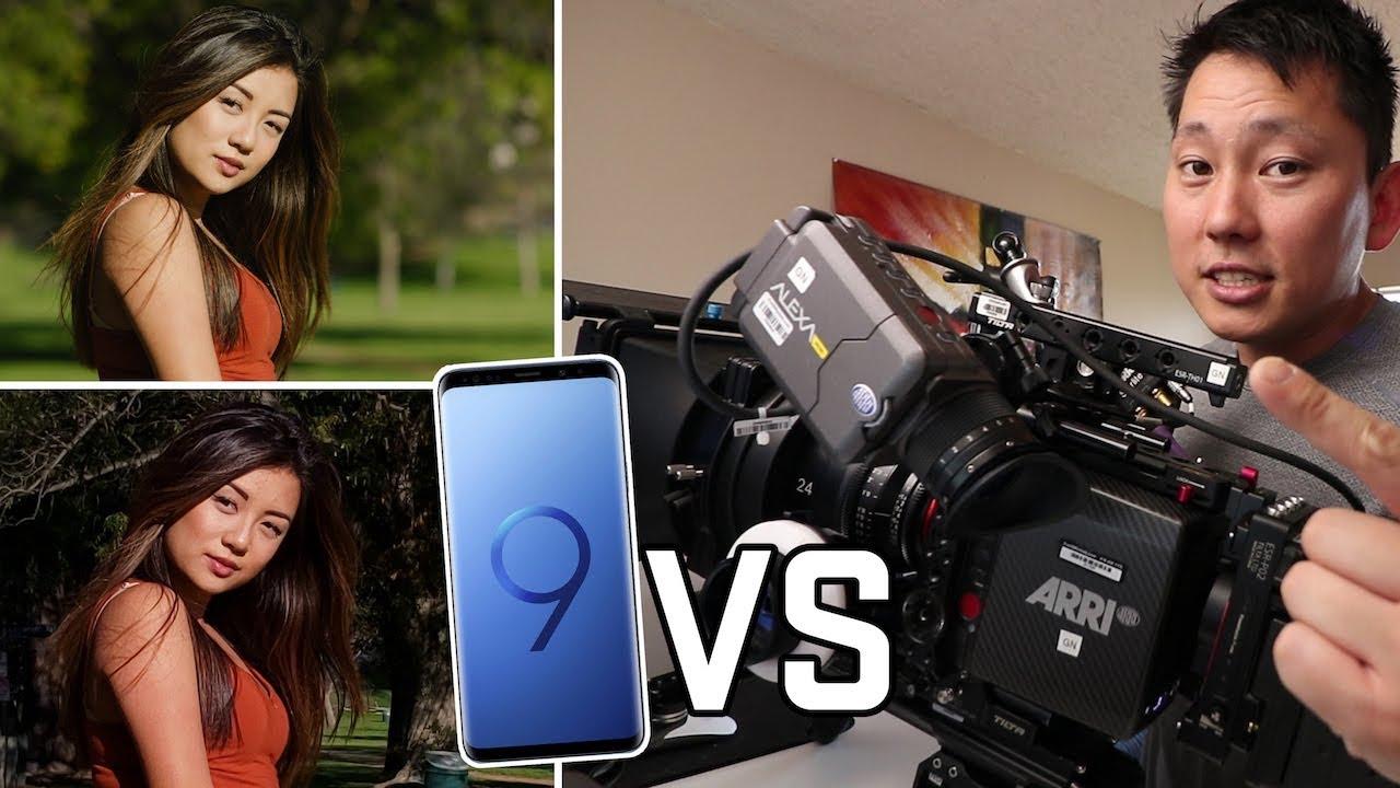 مقایسه فیلم برداری گلکسی اس 9+ با دوربین فیلم برداری حرفه ای