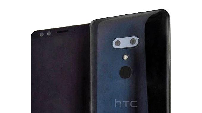 رندر اچ تی سی یو 12+ (+HTC U12) لو رفت: 4 دوربین و نمایشگر کم حاشیه
