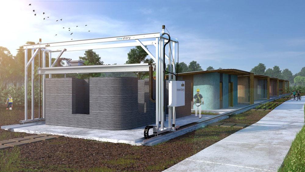 خانه ساخته شده با پرینت 3 بعدی