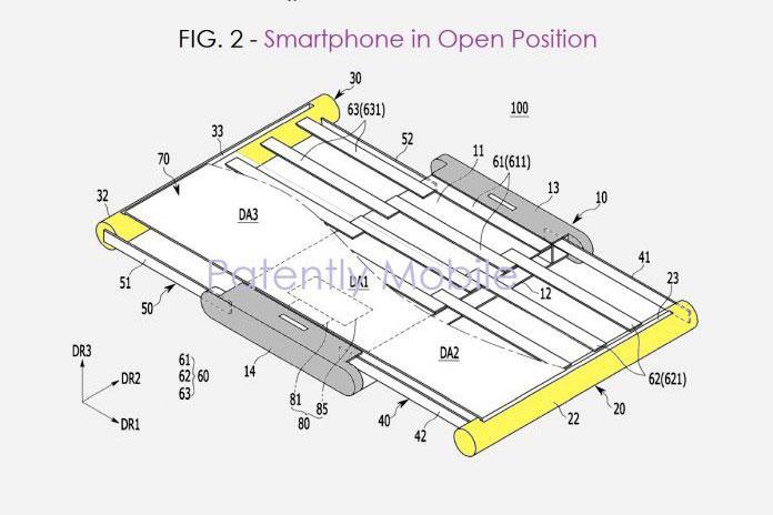 حق اختراع سامسونگ برای موبایل با نمایشگر قابل افزایش