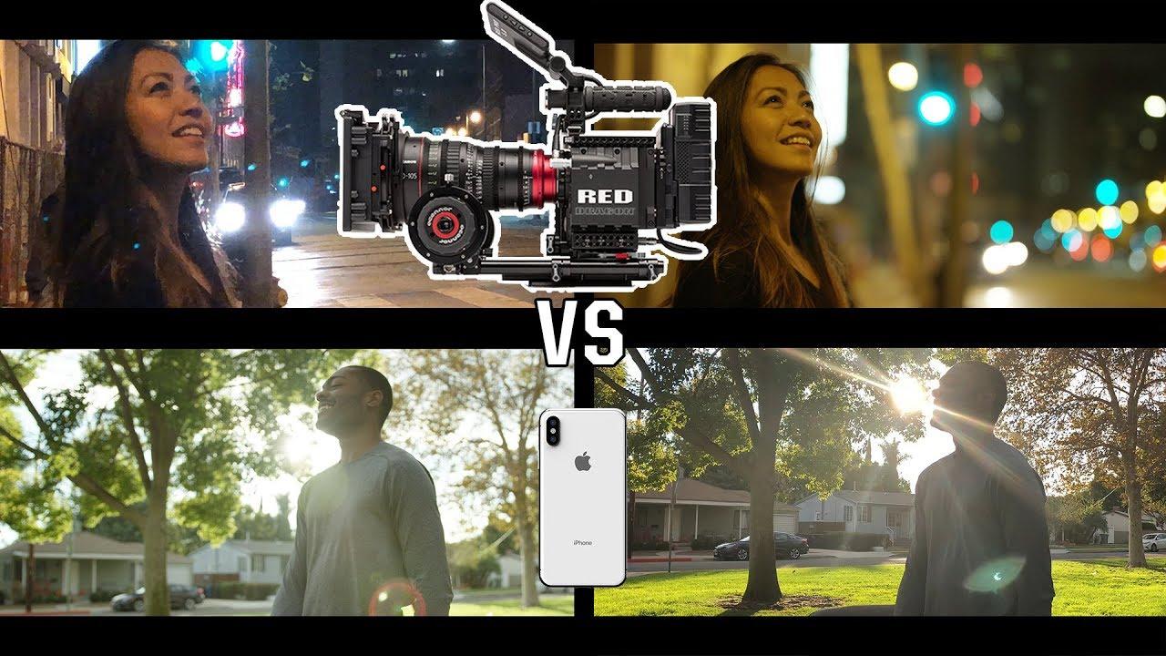 مقایسه فیلم برداری آیفون X با دوربین حرفه ای RED
