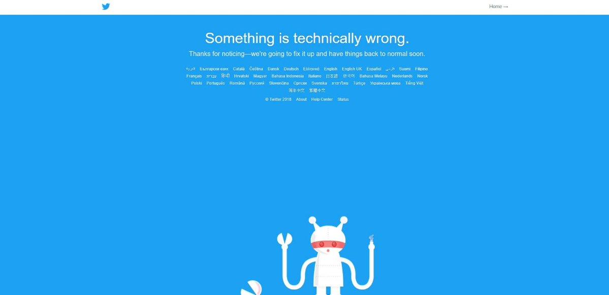#TwitterDown