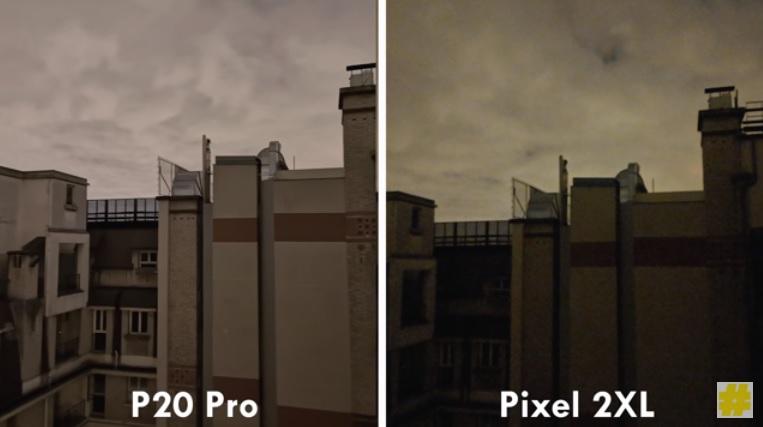 مقایسه دوربین هوآوی پی 20 پرو با پیکسل 2 ایکس ال