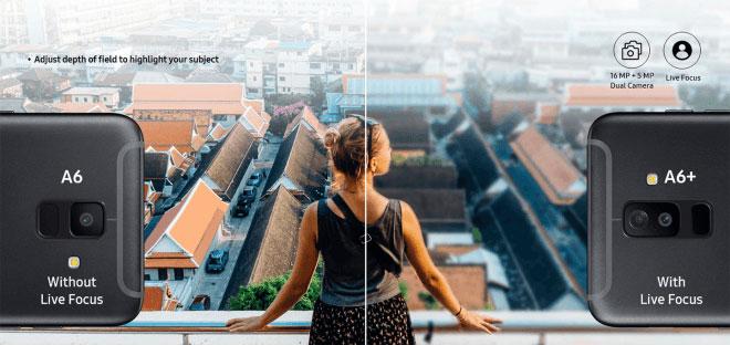دوربین گلکسی A6 پلاس  2018