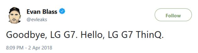ال جی جی 7 تینکیو (LG G7 ThinQ)