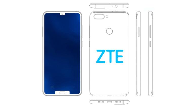 گوشی ZTE با دو بریدگی نمایشگر