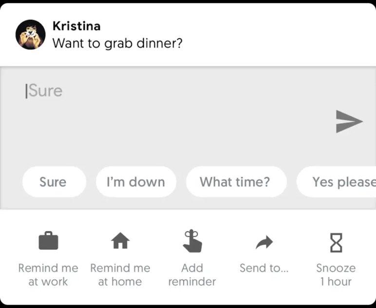 پاسخ دادن هوشمند سریع اندروید پی (Android P)