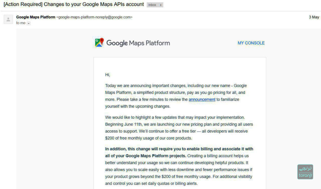 Google API 1024x602 - گوگل به دلیل تحریم ها API گوگل مپ برخی سایت ها و نرم افزارها ایرانی را مسدود کرد