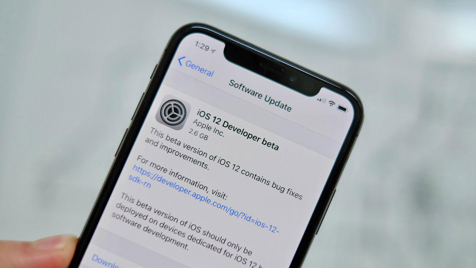 آپدیت iOS 12 آیفون X