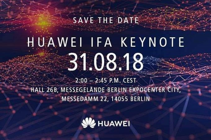 مراسم هوآوی برای 9 شهریور در IFA 2018 برگزار خواهد شد، احتمال رونمایی از کایرین 980