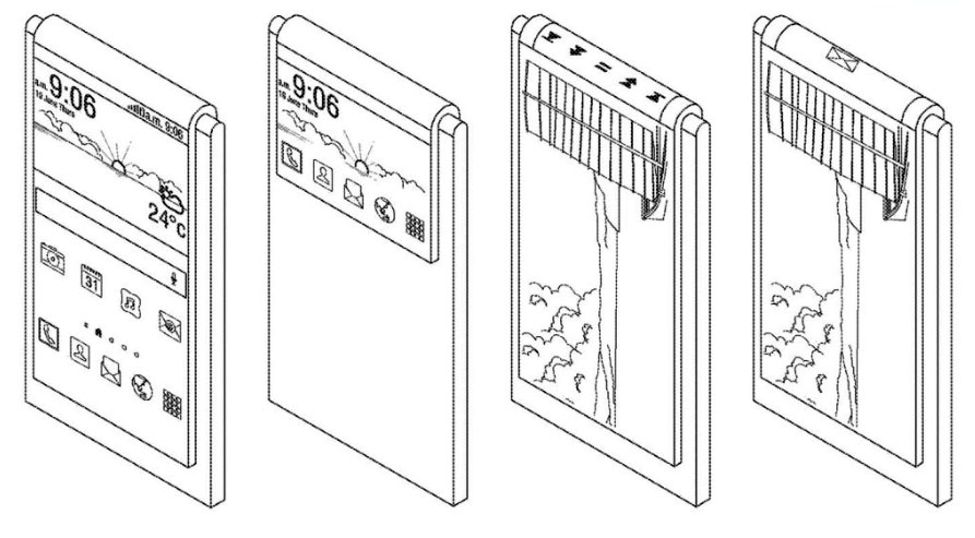 حق اختراع دیگری از سامسونگ برای موبایل با نمایشگر منعطف با فقط یک دوربین