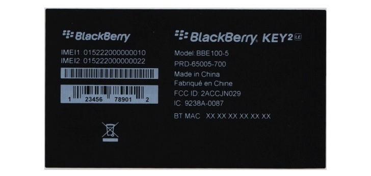 بلک بری کی ۲ ال ای (BlackBerry Key 2 LE) نام نسخه لایت کی ۲ خواهد بود