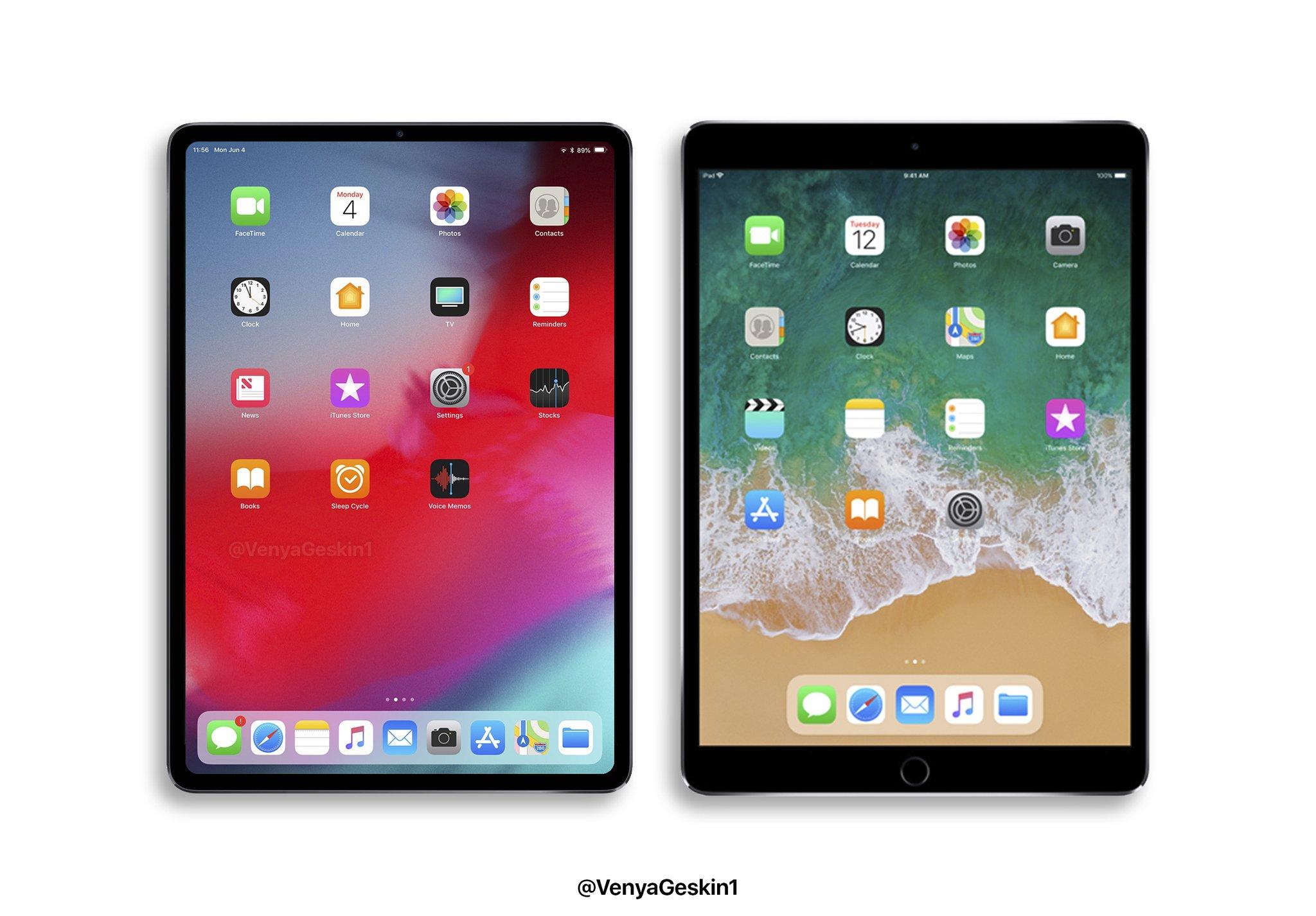 آیپد پرو 11 اینچی 2018 با نمایشگر کم حاشیه و Face ID عرضه می شود