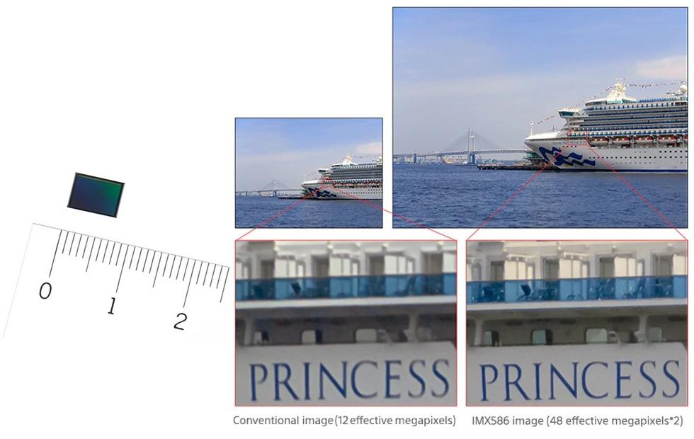 حسگر تصویر IMX586 سونی رزلوشن 48 مگاپیکسلی و پیکسل های 0.8 میکرومتری ارایه می کند