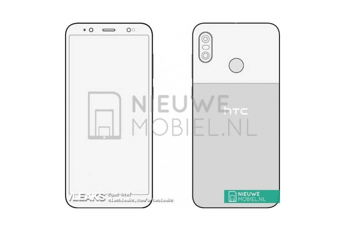 طراحی اچ تی سی یو 12 لایف (HTC U12 Life) لو رفت