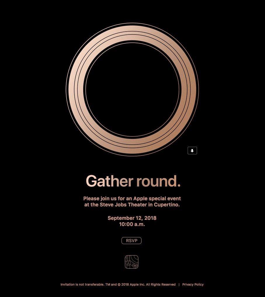 دعوتنامه اپل برای معرفی آیفون های ۲۰۱۸