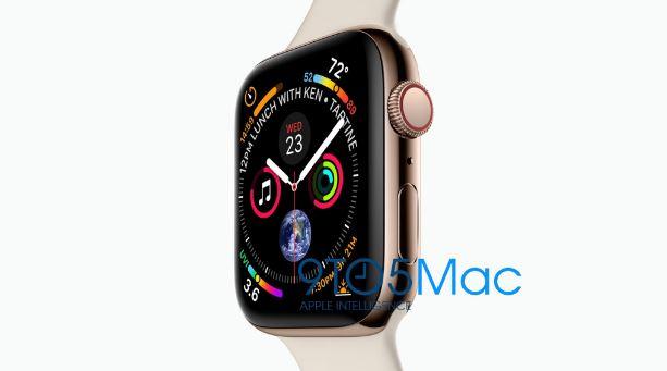 رندر اپل واچ 4 (Apple Watch 4) با نمایشگر کم حاشیه و ضخامت کمتر را ببینید