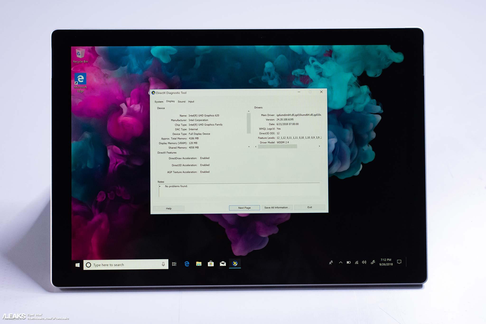 مایکروسافت سرفیس پرو 6 (Surface Pro 6) کاملا لو رفت