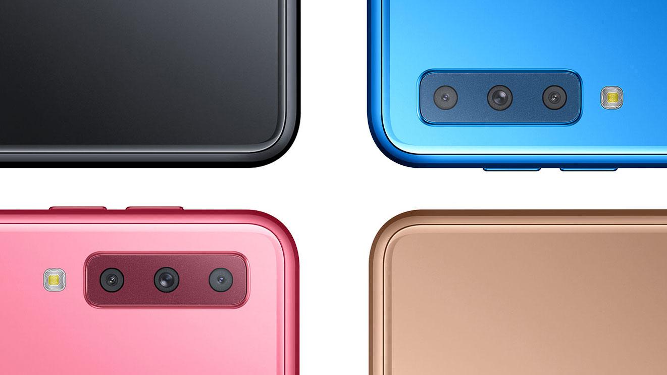رنگ های گلکسی A7 2018