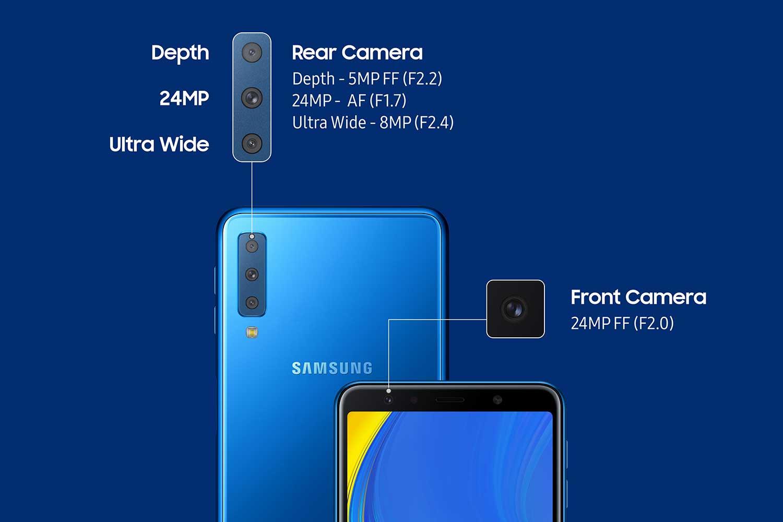 دوربین سه گانه گلکسی A7 2018