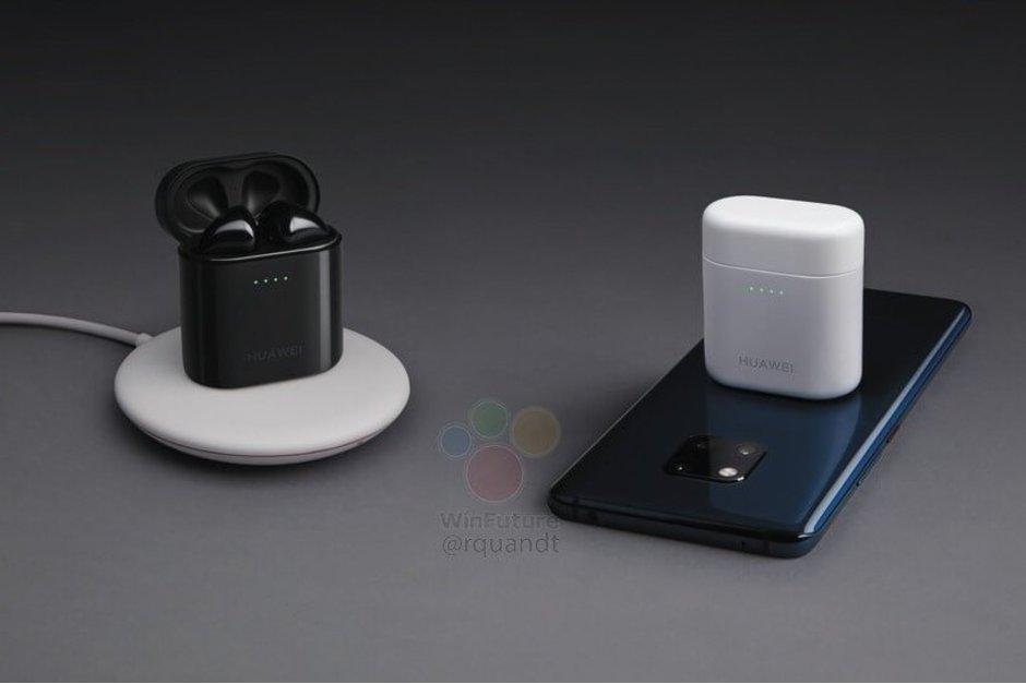 هندزفری Huawei FreeBuds 2 Pro با قرار گرفتن روی Mate 20 پرو به صورت بی سیم شارژ می شود
