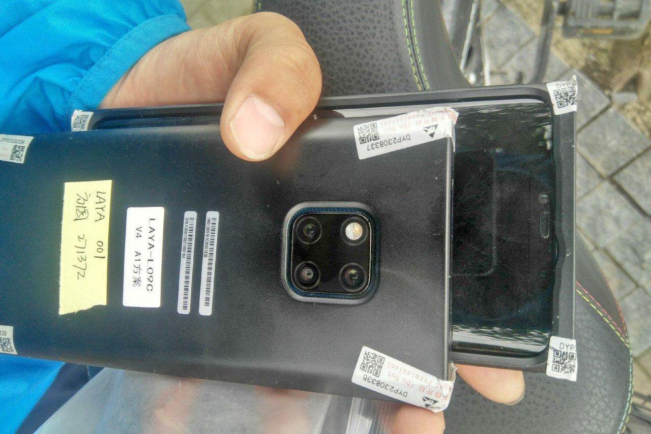 تصاویر دیگری از هوآوی میت 20 پرو با دوربین سه گانه مربعی و بریدگی نمایشگر عریض لو رفت