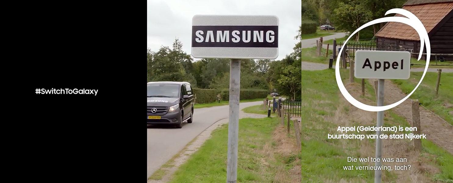 کمپین ضد اپلی سامسونگ این بار در روستایی به نام Appel در هلند