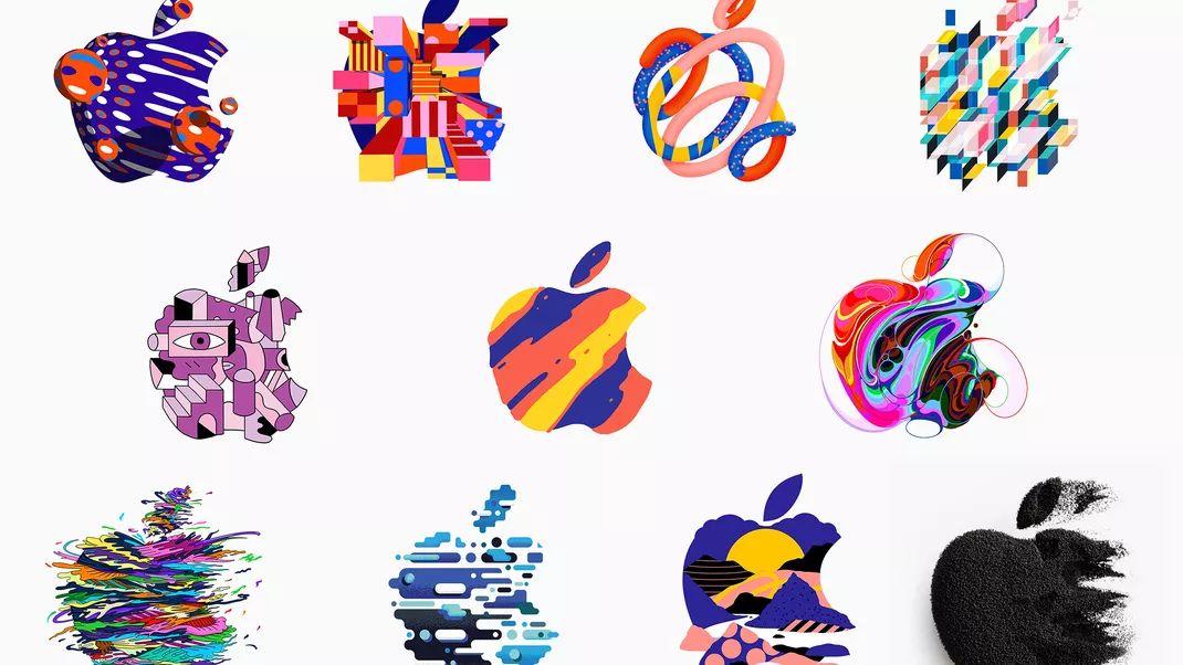 دعوتنامه اپل برای مراسم ۸ آبان برای هر رسانه یک تصویر متفاوت از لوگو این شرکت بوده است