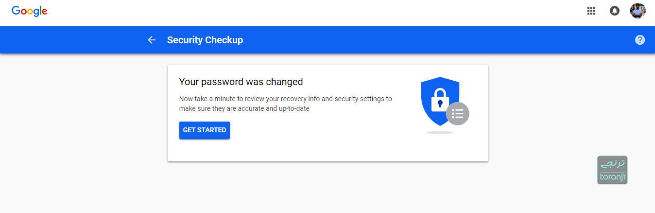 تغییر رمز جی میل (Gmail)