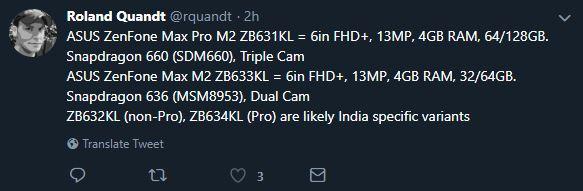 ایسوس Zenfone Max Pro M2 و Zenfone Max M2