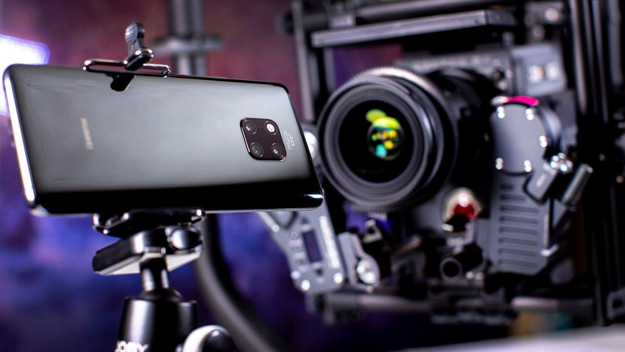 مقایسه دوربین هوآوی میت ۲۰ پرو با دوربین حرفه ای RED