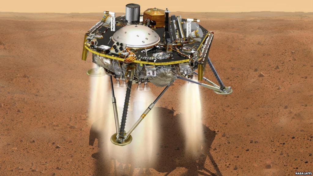 تصویر سازی از نحوه فرود کاوشکر اینسایت روی سطح مریخ