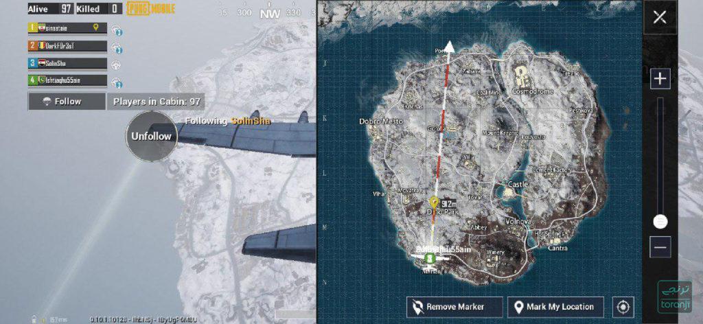 نقشه برفی پابجی