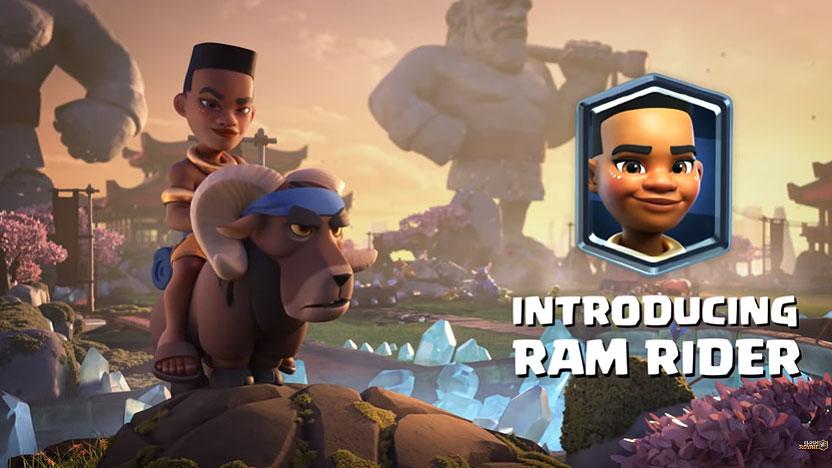 کارت جدید لجندری Ram Rider کلش رویال