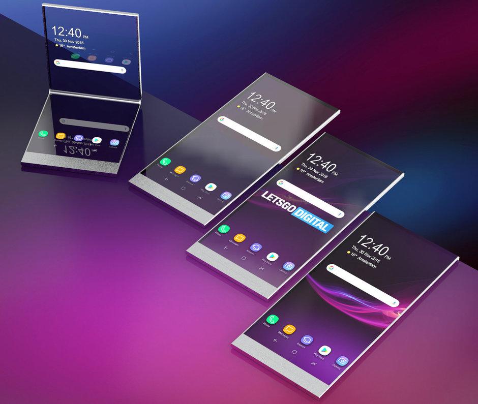 حق اختراع موبایل شفاف و موبایل منعطف سونی منتشر شد