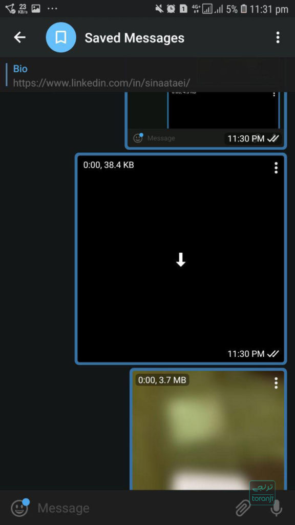 ارسال فایل Gif در تلگرام با پسوند mp4 و حفظ کیفیت اصلی