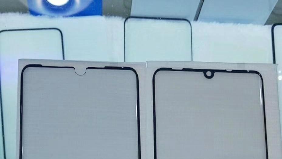 گلس هواوی پی ۳۰ پرو بریدگی نمایشگر قطره طور کوچک را در وسط نمایشگر نشان می دهد