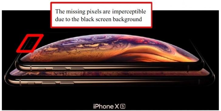 اپل به دلیل رزلوشن و اندازه نمایشگر اشتباه و پوشاندن ناچ با پس زمینه سیاه مورد شکایت قرار گرفت