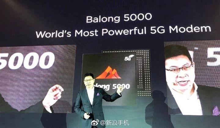 مودم 5G هوآوی Balong 5000 هوآوی با حداکثر سرعت ۶.۵ گیگابیت معرفی شد