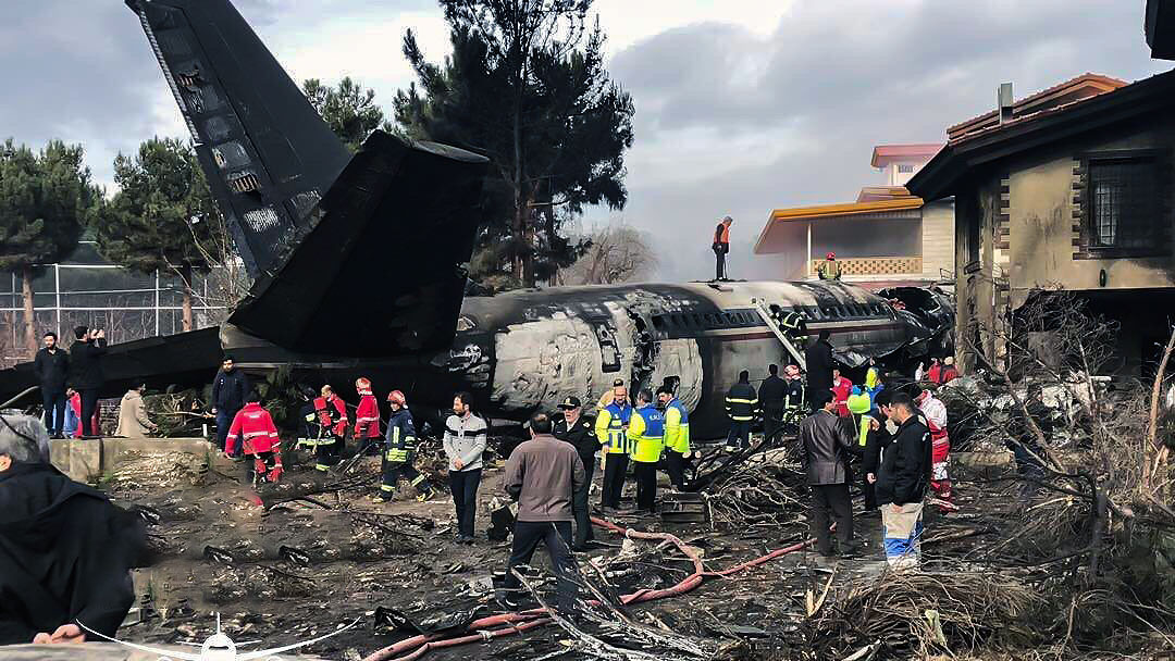 هواپیمای سقوط کرده کرج