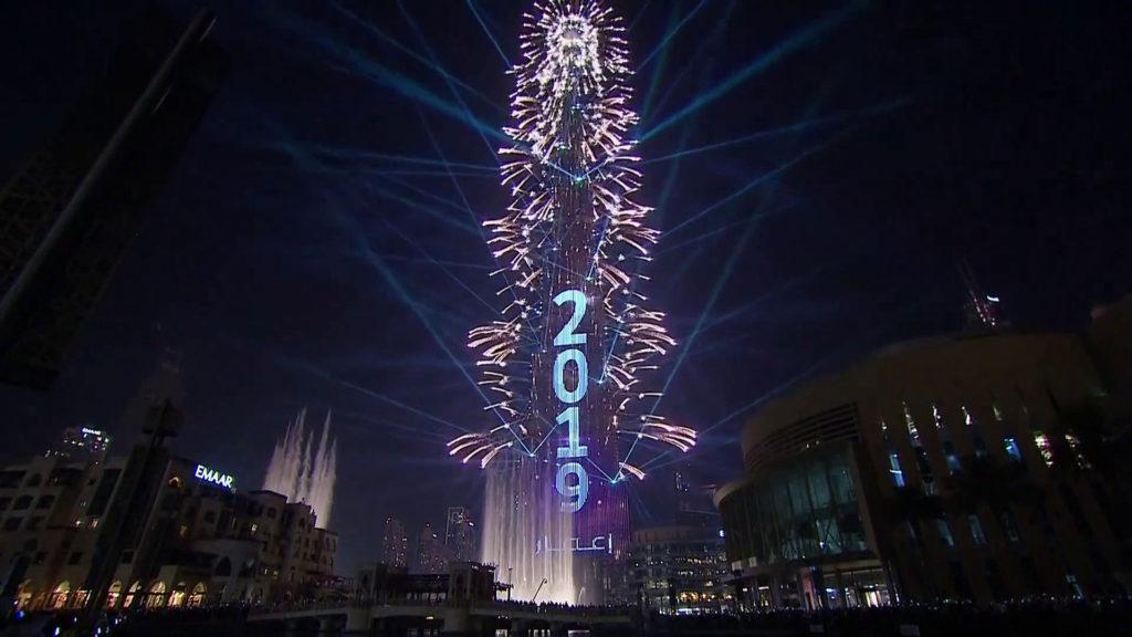 آتش بازی برج خلیفه ۲۰۱۹