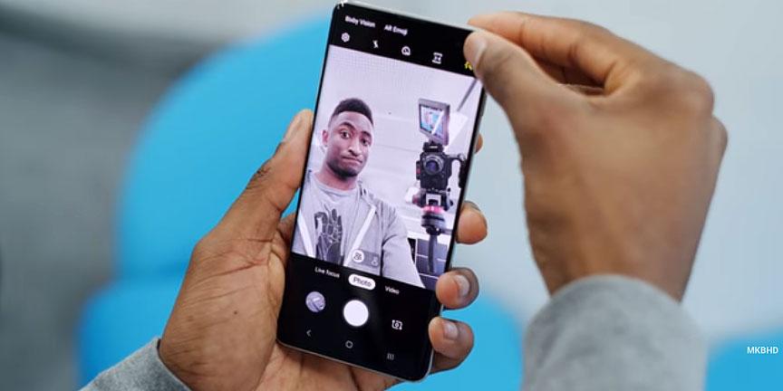 دوربین سلفی دوگانه گلکسی اس ۱۰ پلاس